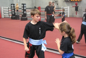 Kung Fu kids training